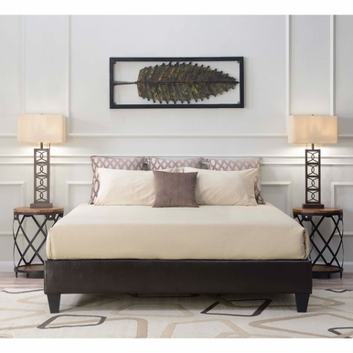 Picket House Furnishings - Abby King Platform Bed in Brown - UBB101KBBO