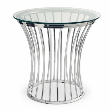 Picket House Furnishings - Astoria Round End Table in Chrome - CEM100ETE