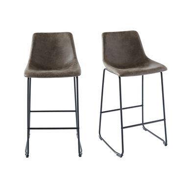 Picket House Furnishings - Collins Metal Bar Stool Set of 2 in Gray - BWS900BSE