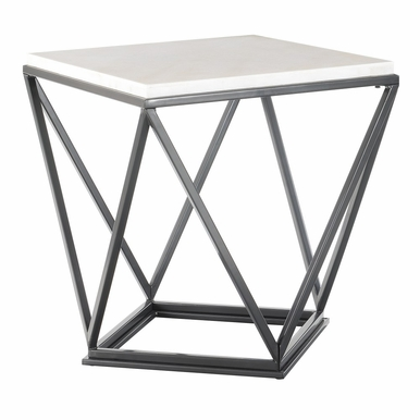 Picket House Furnishings - Conner Square End Table in Black - CRK100ETE