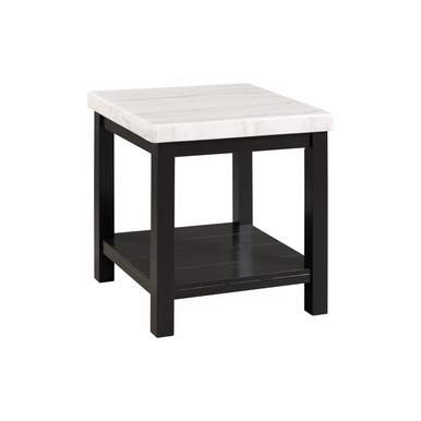 Picket House Furnishings - Evie White Marble Square End Table - CML100ETE