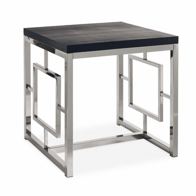 Picket House Furnishings - Harper End Table in Chrome Black - CEZ100ETE