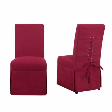 Picket House Furnishings - Hayden Parsons Dining Chair Set of 2 in Berry - UHI084102