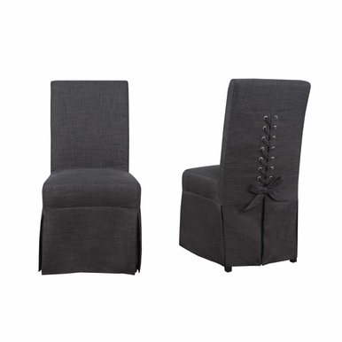 Picket House Furnishings - Hayden Parsons Dining Chair Set of 2 in Charcoal - UHI090102
