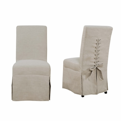 Picket House Furnishings - Hayden Parsons Dining Chair Set of 2 in Natural Linen - UHI082102
