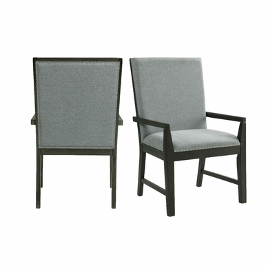 Picket House Furnishings - Holden Standard Height Arm Chair Set of Two in Gray - DDV100AC