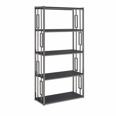 Picket House Furnishings - Kendall Bookshelf in Chrome Black - CES100BSE