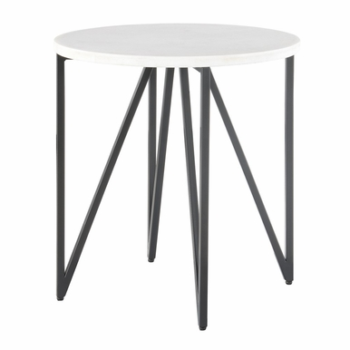 Picket House Furnishings - Kinsler Round End Table in Black - CCR100ETE
