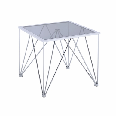 Picket House Furnishings - Macie Square End Table in Chrome - CAN100ETE