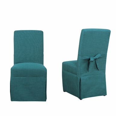 Picket House Furnishings - Margo Parsons Dining Chair Set of 2 in Aqua Teal - UMI087102