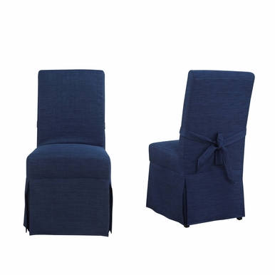 Picket House Furnishings - Margo Parsons Dining Chair Set of 2 in Blue - UMI080102