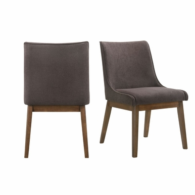 Picket House Furnishings - Ronan Standard Height Dining Chair in Walnut (Set of 2) - DRZ100AC