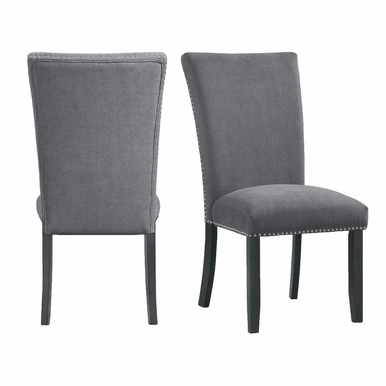 Picket House Furnishings - Stratton Standard Height Side Chair in Charcoal (Set of 2) - CTC130SC