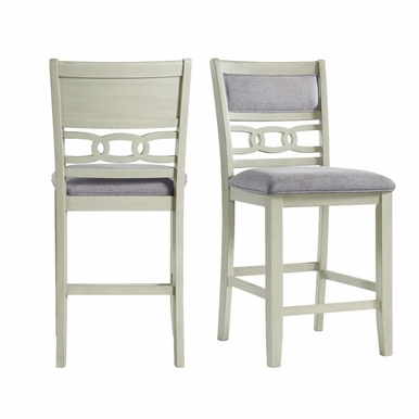 Picket House Furnishings - Taylor Counter Height Side Chair in Bisque (Set of 2) - DAH750CSC