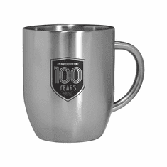 100TH ANNIVERSARY DOUBLE WALL STAINLESS STEEL COFFEE MUG