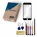 iPhone 6 Plus Repair Kit with Glass Screen Replacement + Tools + Guide - Black