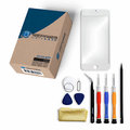 iPhone 6 Plus Repair Kit with Glass Screen Replacement + Tools + Guide - White