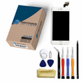 iPhone 6 Plus Repair Kit with LCD Screen Replacement + Small Parts + Tools + Video Guide - White