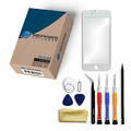 iPhone 6 Repair Kit with Glass Screen Replacement + Tools + Video Guide - White