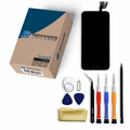 iPhone 6 Repair Kit with LCD Screen Replacement + Small Parts + Tools + Video Guide - Black