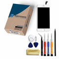 iPhone 6 Repair Kit with LCD Screen Replacement + Tools + Video Guide - White