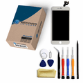 iPhone 6s Plus Repair Kit with LCD Screen Replacement + Small Parts + Tools + Video Guide - White