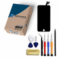 iPhone 6s Repair Kit with LCD Screen Replacement + Small Parts + Tools + Video Guide - Black