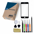 iPhone 7 Plus Repair Kit with Glass Screen Replacement + Tools + Video Guide - Black