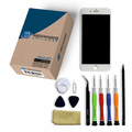 iPhone 7 Plus Repair Kit with LCD Screen Replacement + Small Parts + Tools + Video Guide - White