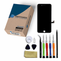 iPhone 7 Plus Repair Kit with LCD Screen Replacement + Tools + Video Guide - Black
