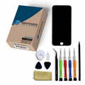 iPhone 7 Repair Kit with LCD Screen Replacement + Small Parts + Tools + Video Guide - Black