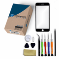 iPhone 8 Plus Repair Kit with Glass Screen Replacement + Tools + Video Guide - Black