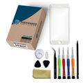 iPhone 8 Plus Repair Kit with Glass Screen Replacement + Tools + Video Guide - White
