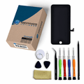 iPhone 8 Plus Repair Kit with LCD Screen Replacement + Small Parts + Tools + Video Guide - Black