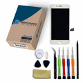 iPhone 8 Plus Repair Kit with LCD Screen Replacement + Small Parts + Tools + Video Guide - White