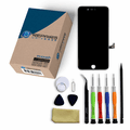 iPhone 8 Plus Repair Kit with LCD Screen Replacement + Tools + Video Guide - Black