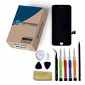 iPhone 8 Repair Kit with LCD Screen Replacement + Small Parts + Tools + Video Guide - Black