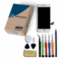iPhone 8 Repair Kit with LCD Screen Replacement + Tools + Video Guide - White