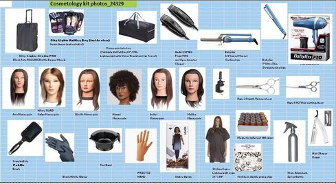 Cosmetology DELUXE kit with 6 Mannequins