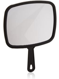 """Make Up Mirror with Handle (8"""" x 9"""")"""