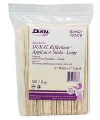"Dukal Reflections Wooden Applicator Sticks -  Large (3/4"" x 6"")"