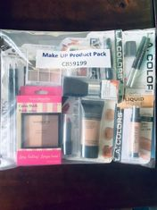 Basic Facial Make Up Pack (foundation, concealer, highlighter powder, blush,, eye shadow, eye pencil, lip pencil, mascara, lip stick)
