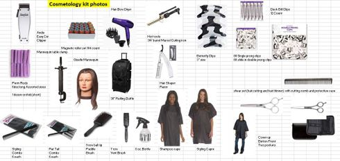 Cosmetology School BASIC starter kit with one mannequin head_CB24324_DELUXE OPTIONS AVAILABLE_Contact Us