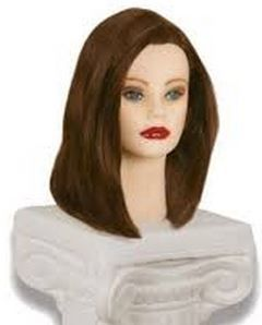 "Courtney Mannequin head, 17-19"" Level 4 100% Human Hair-_OUT of stock_more due September 05"
