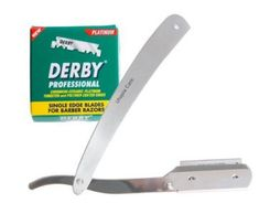 Facial Shaving Straight Razor plus 100 blades
