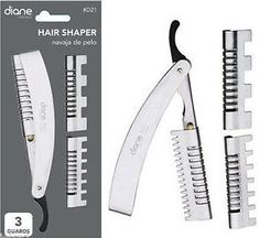 Diane Hair cutting razor with 3 Guards and  5 replacement blades