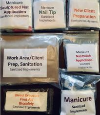 New Jersey Nail Tech And Hair Removal, 9 Task Bags, NJ35734
