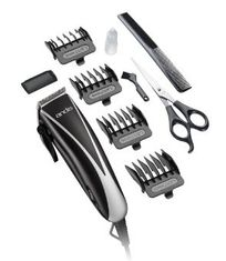 Andis Ultra ClipAdjustable Blade Electric Clipper, 10 piece set (includes barber comb, blade guard, clipper oil and cleaning brush, two plastic attachment combs, and stainless clipper blade)