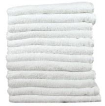 "PARTEX White Cotton  Economy Salon Towels, 12 pack, 26"" x 16"""