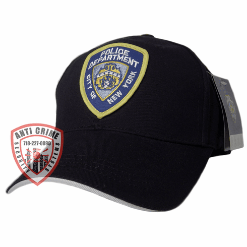 NYPD BLACK BASEBALL STYLE CAP WITH FULL EMBROIDERED OFFICIAL PATCH